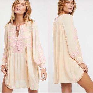 NWT Free People Wind Willow mini dress tunic M